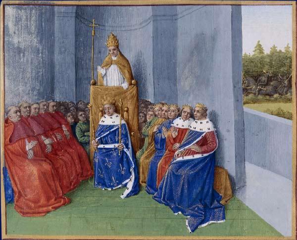 Saint Urbain II, prêchant pour la croisade
